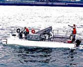 ゴミ回収船
